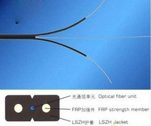 Single-mode FTTH core covered wire cable indoor and outdoor 1 core optical fiber wing skin line 2 of wire cable Brazil