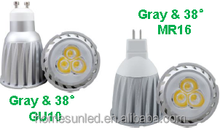6w MR16 GU10 High Power LED Spotlight Aluminium body&PCB+Lens sp06wb