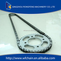 High quality jincheng motorcycle parts, chain sprocket