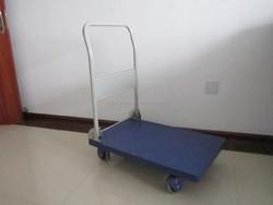 plastic platform hand truck, plastic foldable trolley, plastic handcart with wheels