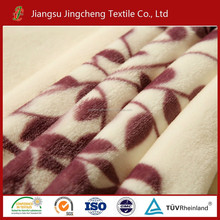 China thickness various print coral fleece flannel fleece polar fleece warp knitting with two sides plush blanket fabric