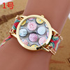Latest bracelet watch with weave band/lady wrist watches for women BWL026