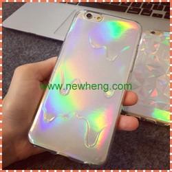 shinny diamond grain soft tpu cover case for iphone6s