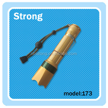 Golden lighting torch pouch for rechargeable camping light with torch