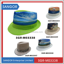 Promotional Cheap Natural Straw Fedora Hat With Custom Logo