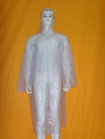 Wholesale Clear Plastic Disposable Rain Coat with Hood