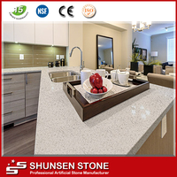 High polishing manufactured stone for kitchen island tops QZ887
