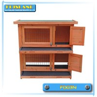 Two tier wooden rabbit hutch small animal house