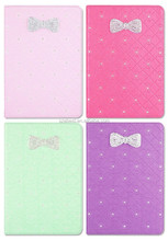 Good quality Best Sell Folio leather case for ipad mini 3, Candy color Bownot Design with diamond
