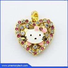 Hello kitty usb flash drive heart shaped usb pen drive bulk cheap from Umemory