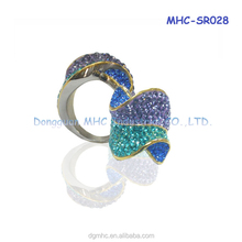 out-of-shape fashion diamond rings,925 silver ring,handmade jewelry wholesale china