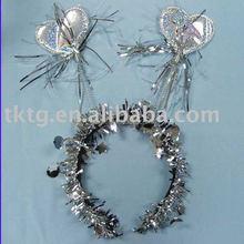 Plasti gold heart-shaped hair band