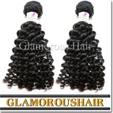 Grade 6a unprocessed virgin remy short hair brazilian curly weave