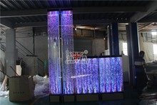 Modern cafe interior design water features bubble room divider panel