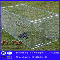 Alibaba china supplier portable chain link fence/chain link dog kennel lowes