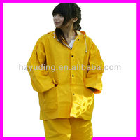 PVC/Polyester water proof pvc/polyester rain suit