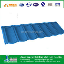 decorative classical style colored stone coated metal roofing tile