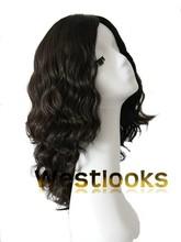 Natural Dark Brown Color Jewish Virgin Hair Unprocessed Skin Top Kosher Wigs