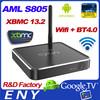 2015 Top Selling M12 Amlogic S805 XBMC Android4.4 Kitkat Google Wireless Keyboard TV Box