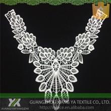 82029 diseños de bordado de la alta calidad química fabricación terminal Collar de tela de encaje blanco blusas
