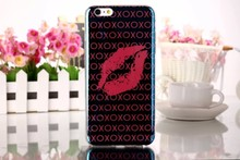 Custom flexible case for iphone 6,lip printed case cover for iphone 6s