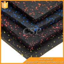 cheap new design black with color dots hard rubber flooring roll