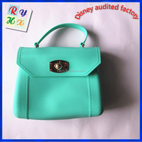 Factory cheap price silicone hand bag, custom fashion silicone shopping bag