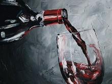 de <span class=keywords><strong>vidrio</strong></span> de color rojo vino de <span class=keywords><strong>pintura</strong></span> al óleo sobre lienzo nuevo diseño