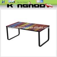 long glass narrow coffee table in good taste