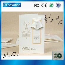 New design handmade embossed a4 music wedding invitation card paper