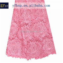 2015 Retail ladies suits 100% polyester material flower design lace embroidery for wedding dresses/ african handcut voile lace