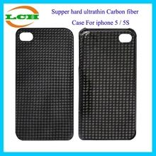 Super hard ultrathin carbon fiber cell phone case for iphone 5 / 5s