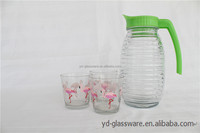 BEAUTIFUL GLASS CUP WITH WATER OR TEA