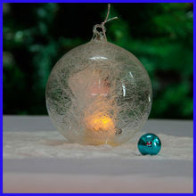Beautiful Clear New Design Spun Glass Ball Sets with Led Light