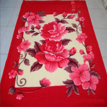 Polyester Mink Blanket with Satin Border