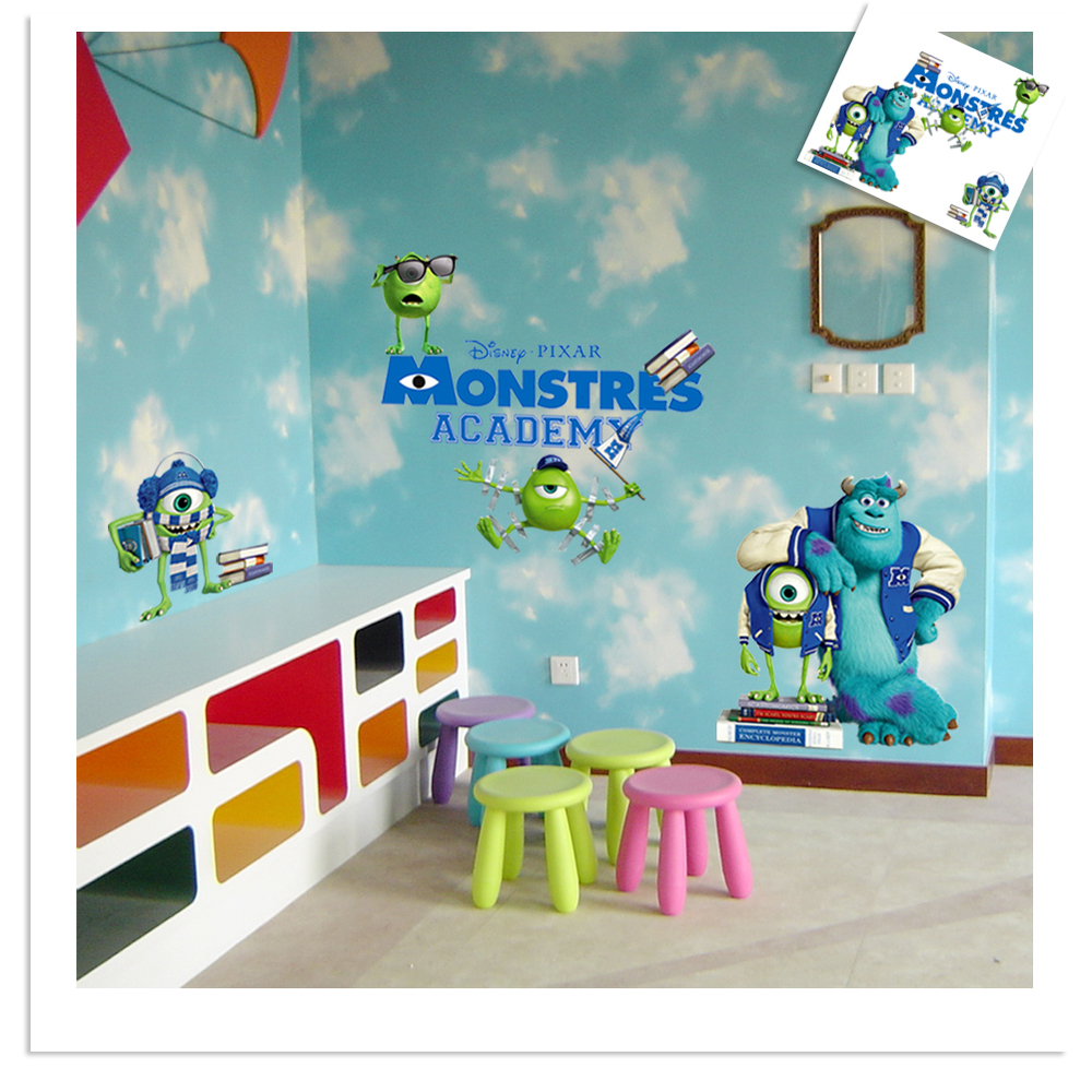 Monsters inc wall decals canada squirts nursery ideas on aliexpress buy full colour monsters inc university wall art amipublicfo Choice Image