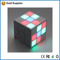 Colorful magic cube portable mini bluetooth speaker with LED light