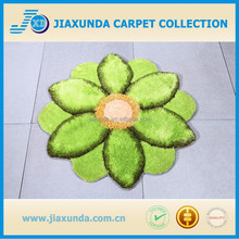 Polyester flower shape carpet or mat