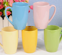 11OZ Wholesale Ceramic Candy color glaze tea coffee mugs cups