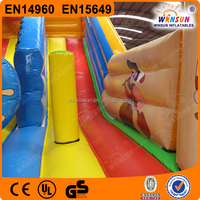 Inflatable giant industrial slip and slide for sale