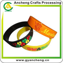 promotion wholesale craft supplies the silicone bracelet for advertising gifts