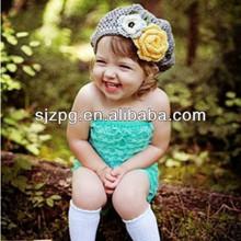 Sombrero del ganchillo, gorro de ganchillo con flores