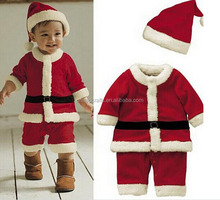 High Quality 2-4 Years Old Girl Boy Santa Suit Novelty Costume Baby Christmas Clothing Sets kids clothing sets