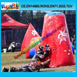Outdoor shooting paintball bunker, inflatable game, paintball arena