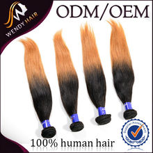 Alibaba china supplier wholesale ombre straight 100% malaysian virgin hair