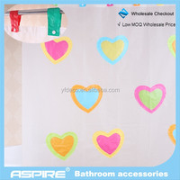 we are one Wholesale Checkout new fancy PEVA shower curtains impressionistic style
