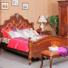American furniture bed door of completely real wood birch 1.8 meters classical bed marriage bed