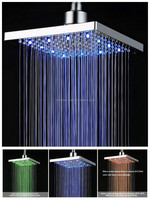 """8"""" square LED color waterfall shower head"""