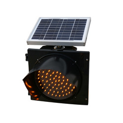 solar traffic warning light 12 inch LED display