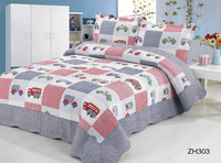 china supplier 100% cotton car picture bedding patchwork baby bedding set